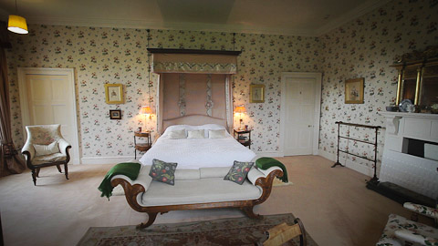 One of the stunning bedrooms at Birkhill Castle (in association with Professional Property Films)
