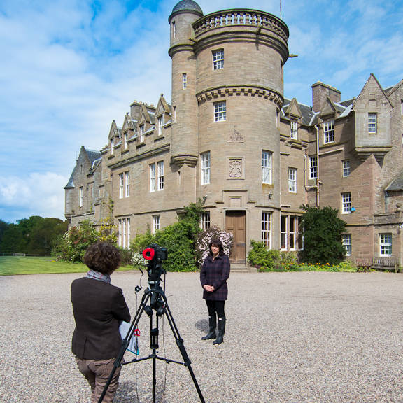 Filming at Birkhill Castle for Estate Life